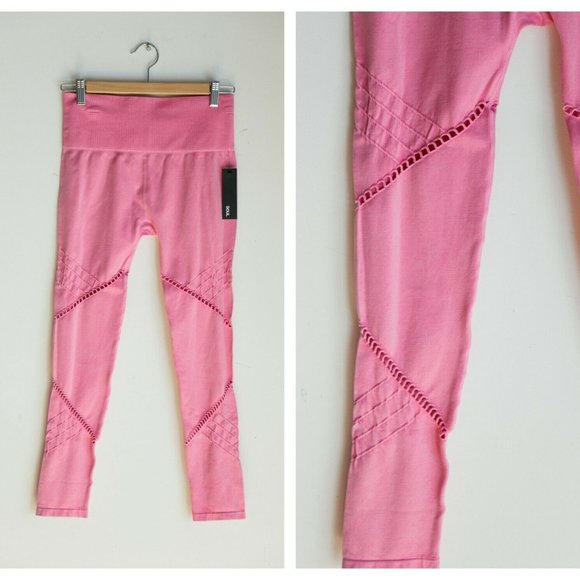 NWT Soul Cycle Seamless Moto Leggings Candy Pink M